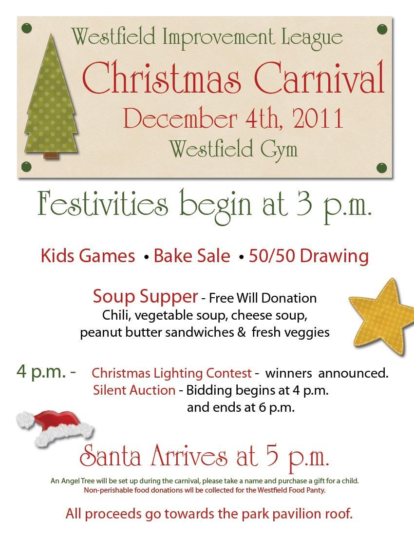 westfield improvement league christmas carnival flier