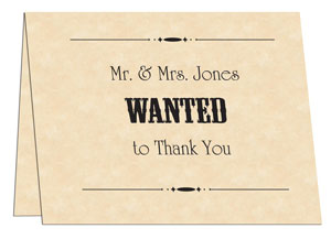wanted poster thank you